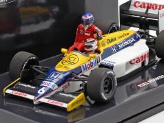 Rosberg riding on Piquet Williams FW11 #6 German GP F1 1986 1:43 Minichamps