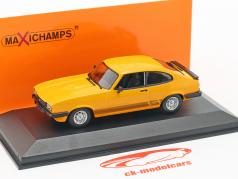 Ford Capri ano de construção 1982 laranja 1:43 Minichamps