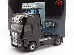 Mercedes-Benz Actros Gigaspace 4x2 Truck Facelift 2018 black / Gray 1:18 NZG