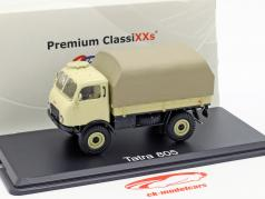 Tatra 805 platform truck with Plans beige 1:43 PremiumClassiXXs