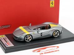 Ferrari Monza SP1 Autosalon Paris 2018 grau metallic / gelb 1:43 LookSmart