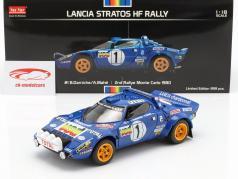 Lancia Stratos HF #1 2nd Place Rallye Monte Carlo 1980 1:18 Sunstar