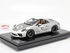 Porsche 911 (991 II) Speedster #70 Heritage Design Package 2019 med udstillingsvindue sølv 1:12 Spark