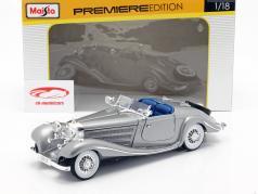 Mercedes-Benz 500 K Special Roadster año 1934-1936 plata 1:18 Maisto