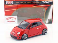 Fiat Abarth 500 Ano 2008 vermelho 1:18 MotorMax