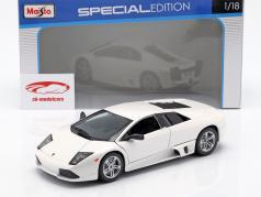 Lamborghini Murcielago LP640 ano de construção 2007 branco 1:18 Maisto