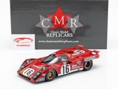 Ferrari 512 M #16 4º Lugar, colocar 24h LeMans 1971 Craft, Weir 1:18 CMR