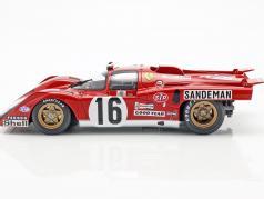 Ferrari 512 M #16 4º Lugar, colocar 24h LeMans 1971 Craft, Weir 1:18 CMR