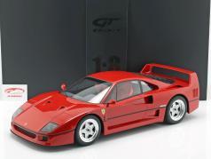 Ferrari F40 ano de construção 1987 vermelho com mostruário 1:8 GT-Spirit