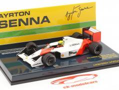 Ayrton Senna McLaren MP4/4B Test Car Weltmeister Formel 1 1988 1:43 Minichamps