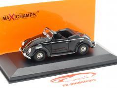 Volkswagen VW Hebmüller cabriolé ano de construção 1950 preto 1:43 Minichamps