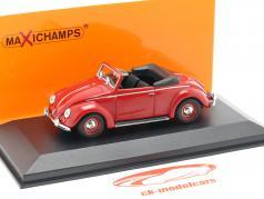 Volkswagen VW Hebmüller cabriolé ano de construção 1950 vermelho 1:43 Minichamps
