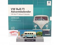 VW Bulli T1 Calendario de adviento 2019: Volkswagen VW Bulli T1 turquesa 1:43 Franzis