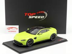 Aston Martin Vantage ano de construção 2018 cal essência verde 1:18 TrueScale