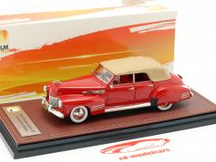 Cadillac Series 62 Convertible Sedan Closed Baujahr 1941 rot 1:43 GLM