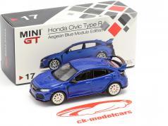 Honda Civic Type R (FK8) LHD aegean blau 1:64 TrueScale