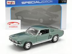 Ford Mustang Fastback GTA Ano 1967 verde 1:18 Maisto
