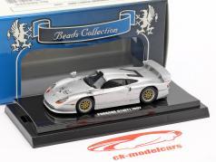 Porsche 911 GT1 ano de construção 1997 prata metálico 1:64 Kyosho