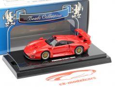 Porsche 911 GT1 ano de construção 1996 vermelho 1:64  Kyosho
