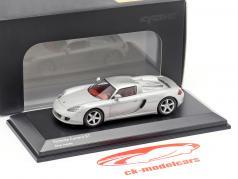 Porsche Carrera GT prata metálico 1:64 Kyosho