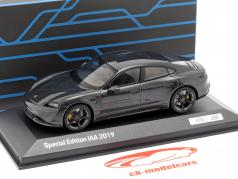 Porsche Taycan Turbo S IAA 2019 volcano gray metallic 1:43 Minichamps