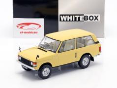 Land Rover Range Rover 3.5 V8 ano de construção 1972 luz amarela 1:24 WhiteBox