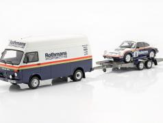 3-Car Set Winner Rallye des 1000 Pistes 1984 Rothmans Porsche 1:18 OttOmobile