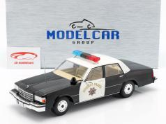 Chevrolet Caprice Highway Patrol 1987 zwart / wit 1:18 Model Car Group