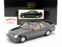 Mercedes-Benz 600 SEC (C140) year 1992 anthracite 1:18 KK-Scale