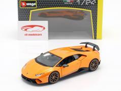 Lamborghini Huracan Performante año de construcción 2017 naranja metálico 1:24 Bburago