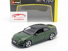 Audi RS 5 coupe verde escuro 1:24 Bburago