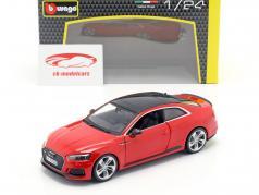 Audi RS 5 coupe vermelho 1:24 Bburago