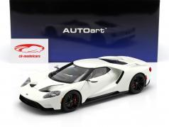 Ford GT year 2017 frozen white 1:18 AUTOart
