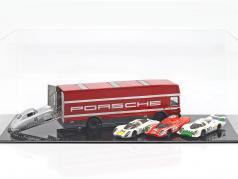 Mercedes-Benz O 317 course camion Porsche Motorsport rouge 1:43 Schuco