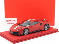 Ferrari 488 Pista year 2018 corsa red metallic 1:18 BBR