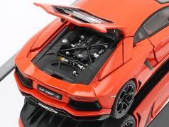 Lamborghini Aventador LP 700-4 Año 2011 naranja metálico 1:43 AUTOart