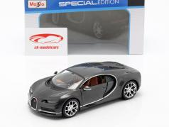 Bugatti Chiron year 2016 grey metallic 1:24 Maisto