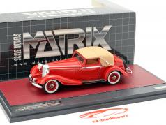 Mercedes-Benz 500K DHC Corsica Closed Top Baujahr 1935 rot 1:43 Matrix