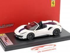 Ferrari 488 Pista Spider ano de construção 2018 italia branco 1:43 LookSmart