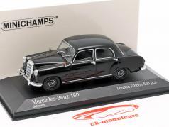 Mercedes-Benz 180 (W120) Год постройки 1955 черный 1:43 Minichamps