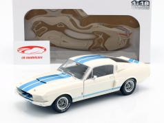 Shelby Mustang GT500 築 1967 白 / ブルー 1:18 Solidoの