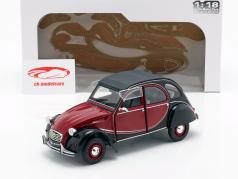 Citroen 2CV Charleston year 1982 dark red / black 1:18 Solido