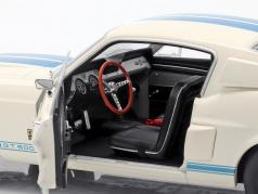 Shelby Mustang GT500 Bouwjaar 1967 wit / blauw 1:18 solido