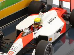 A. Senna McLaren MP4/4 #12 gagnant Hongrie GP champion du monde F1 1988 1:43 Minichamps