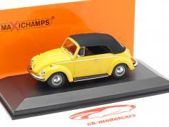 Volkswagen VW 1302 cabriolé ano de construção 1970 amarelo 1:43 Minichamps