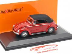 Volkswagen VW 1302 cabriolé ano de construção 1970 vermelho 1:43 Minichamps