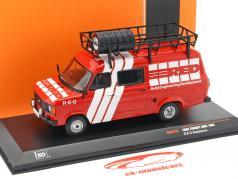 Ford Transit MK II ano de construção Rallye Assistance R.E.D. 1985 vermelho / branco 1:43 Ixo