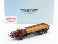 Mercedes-Benz L 10000 caminhão de plataforma ano de construção 1937 escuro vermelho / bege 1:43 Neo