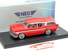 Rambler Custom Cross Country 6 Station Wagon year 1958 red 1:43 Neo