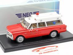 Chevrolet Suburban ambulanza anno di costruzione 1970 rosso / bianco 1:43 Neo